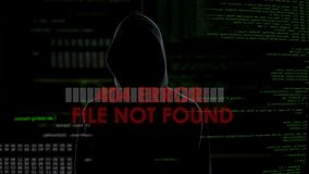 File not found error, unsuccessful hacking attempt, male coder gets furious. Stock footage stock footage