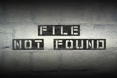 File not found gr Stock Photo