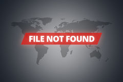 File Not Found Message on Screen Royalty Free Stock Photos