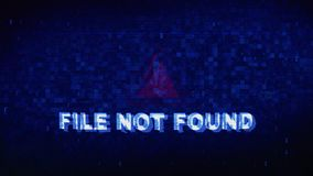 File not Found Text Digital Noise Twitch Glitch Distortion Effect Error Animation. File not Found Text Digital Noise Glitch Effect Tv Screen Background. Login royalty free illustration