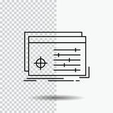 File, object, processing, settings, software Line Icon on Transparent Background. Black Icon Vector Illustration. Vector EPS10 Abstract Template background stock illustration