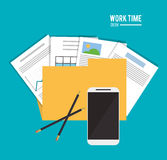 File office work time supply icon, vector Stock Photo