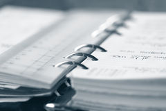 File organizer. (shallow dof) closeup with focus on name of person Royalty Free Stock Image