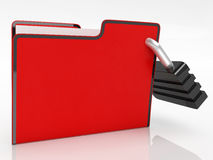 File With Padlock Shows Security. And Classified Stock Photography