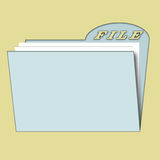 File for paper. Illustration of file for papers Stock Images