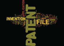 File A Patent Text Background  Word Cloud Concept Royalty Free Stock Photography