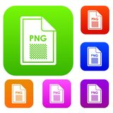 File PNG set collection. File PNG set icon in different colors isolated vector illustration. Premium collection Stock Image