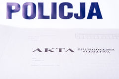 File police investigation Stock Images