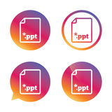 File presentation icon. Download PPT button. Stock Images