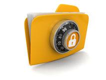 File protection  (clipping path included) Stock Photos