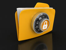 File protection  (clipping path included). File protection. Image with clipping path Royalty Free Stock Photo