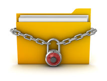 File Protection. This is a computer generated and 3d rendered picture Royalty Free Stock Images