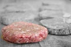 File of raw hamburgers Royalty Free Stock Photos