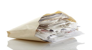 File of receipts. A big pile of receipts Royalty Free Stock Photography