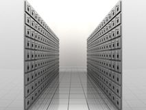 File room. 3d illustration of a file room Royalty Free Stock Photo