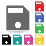 File save icon. Elements in multi colored icons for mobile concept and web apps. Icons for website design and development, app dev. Elopment on white background Royalty Free Stock Images