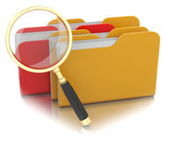 File search concept. On white Royalty Free Stock Photo