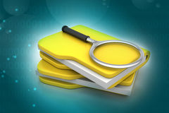 File searching. In color background Royalty Free Stock Image