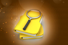 File searching. In color background Royalty Free Stock Photo