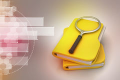 File searching. In color background Stock Images