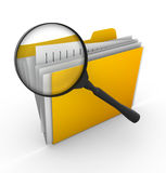 File searching. This is a computer generated and 3d rendered picture Royalty Free Stock Images