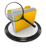 File searching icon. This is a computer generated and 3d rendered picture Stock Photos