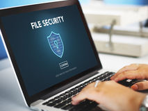 File Security Online Security Protection Concept Stock Photography