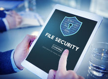 File Security Online Security Protection Concept. File Security Online Security Protection Royalty Free Stock Image