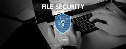 File Security Protection Privacy Interface Concept Stock Images