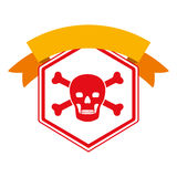 File and security system design. File icon. Security system warning protection and danger theme.  design. Vector illustration Royalty Free Stock Photography