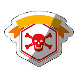 File and security system design. File icon. Security system warning protection and danger theme.  design. Vector illustration Stock Image