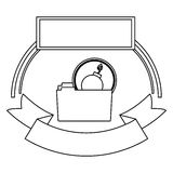 File and security system design. File icon. Security system warning protection and danger theme.  design. Vector illustration Stock Photography