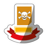 File and security system design. File icon. Security system warning protection and danger theme.  design. Vector illustration Royalty Free Stock Photos