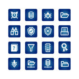 File server icons. On the blue background Royalty Free Stock Photography