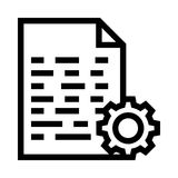 File setting vector line icon. Elements for mobile concept and web apps. Thin line icons for website design and development, app development. Premium pack Royalty Free Stock Photography
