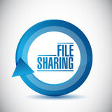 File sharing cycle illustration design. Over a white background Stock Images