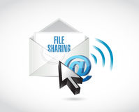 File sharing email illustration design Stock Photos