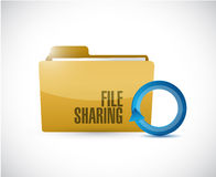 File sharing folder cycle illustration design. Over a white background Royalty Free Stock Photo