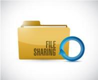 File sharing folder cycle illustration design Royalty Free Stock Photo
