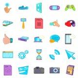 File sharing icons set, cartoon style. File sharing icons set. Cartoon set of 25 file sharing vector icons for web isolated on white background Stock Photo