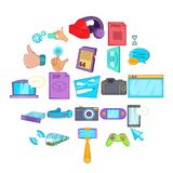 File sharing icons set, cartoon style. File sharing icons set. Cartoon set of 25 file sharing vector icons for web isolated on white background vector illustration