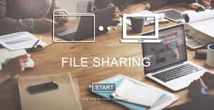 File Sharing Internet Technology Social Storage Concept Stock Image