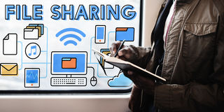File Sharing Internet Technology Social Storage Concept Royalty Free Stock Image