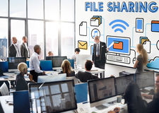 File Sharing Internet Technology Social Storage Concept. Business people File Sharing Internet Technology Social Storage Concept stock photos