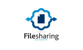 File Sharing Logo. Minimalist and modern share logo template. Simple work and adjusted to suit your needs Stock Photos