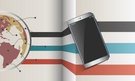File sharing modern smartphone Royalty Free Stock Photo