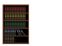 File shelf. Isolate file shelf on transparent  background Stock Photo