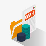 File and social media design. File and website icon. Social media marketing and communication theme. Colorful design. Vector illustration Royalty Free Stock Photography