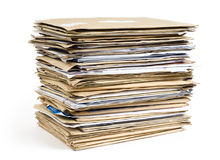File Stack close-up shot Royalty Free Stock Images