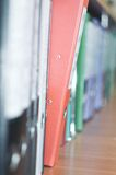 File Stack, file folder close up for background. Stock Photos